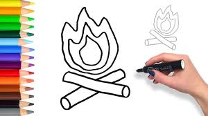 Small Picture Learn to draw a Campfire Teach Drawing for Kids and Toddlers