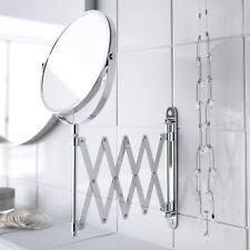 Vanity Mirror Wall Mounted Extending Folding Makeup Shaving Magnifying Chrome Bathroom Mirror Ebay Buy Round Wall Mounted Bathroom Mirrors Ebay