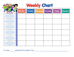 Color Behavior Chart Printable Color Pages Color Pages Blank Weekly Chart Calendar First