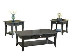BERNARDS BROADWAY COFFEE TABLE SET, BLACK, 3 PACK  Click Image Twice For