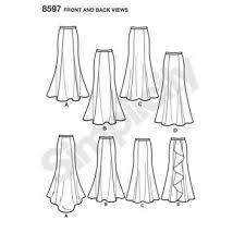 Mermaid Skirt Pattern Inspiration Spring 48 Simplicity Patterns Doctor T Designs