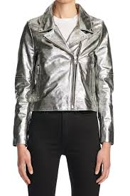 madison jacket silver leather mouseover