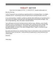 Best Resume Cover Letter Resume Cover Letter Example Hospitality Eursto 89