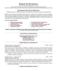Electrical Contractor Resumes Examples Of Electrician Resumes Sample Resume 9 In Word For