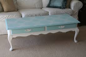 painted coffee table ideasFor the love of white Chalk Paint Coffee Table Project