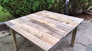 diy pallet table 100 pallet wood table mesa de madera de palets you