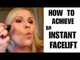 instant facelift contour a fat face look younger w makeup face makeup