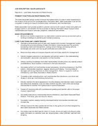 Retail Sales Associate Job Description For Resume Elegant Retail Job