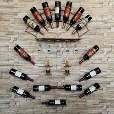 Adega artesanal de ferro de parede para 5 garrafas de vinho. Suporte De Vinho De Ferro Forjado Europeu Prateleira Para Pendurar Na Parede Adega De Vinho Loja Cerveja Decoracao De Parede Para Casa Vinicola Aliexpress