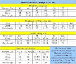 Jersey Size Chart Youth 2019 Personalized New American Football Jerseys Custom All 32 Teams Mens Womens Youth Kid Stitched Any Name Any Number S 4xl Mix Match Order From