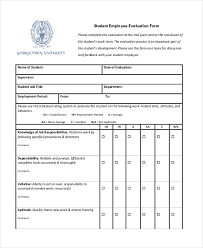 Sample Job Performance Evaluation Forms - 10+ Free Documents In Word ...