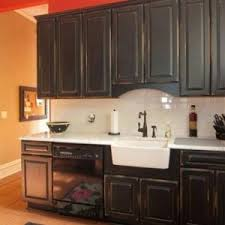 antique black kitchen cabinets. black distressed kitchen cabinets projects idea 24 with farmhouse sink and antique