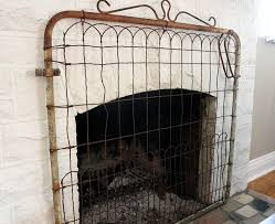 turn a gate into a fireplace screen