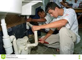 plumbing trade school royalty stock photography image 6199867 latino teens learn profession plumbing trade school royalty stock image