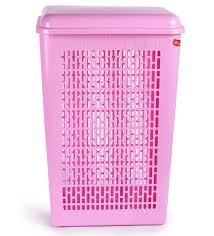 Pink Plastic Laundry Basket Gorgeous Buy Princeware Pink Plastic Laundry Basket Online Laundry Baskets