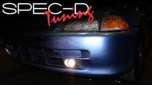 Fog Light Installation Specdtuning Installation Video 1992 1995 Honda Civic 4 Door Fog Light Kits