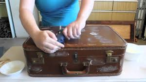 Restoring Antique Leather Upcycle Vintage Suitcase To Clever Table Youtube