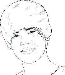 justin bieber coloring page coloring pages