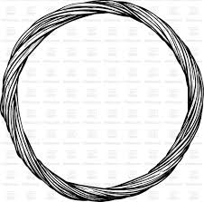 round decorative wicker frame of cut black branches on white background vector image vector artwork to zoom