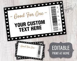 Coupon Template Christmas Editable Coupons For Dads Moms