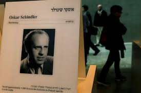 uphill battle for group that wants to save oskar schindler s ors walk past a portrait of oskar schindler at the yad vashem holocaust memorial museum in