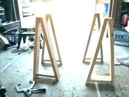 sawhorse table legs jet 10 wood kitchen