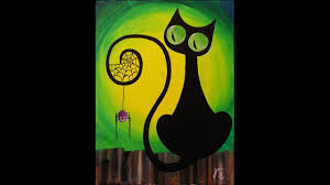 y the cat step by step acrylic painting on canvas for beginners