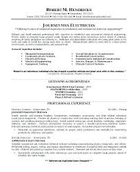 Electrician Resume Examples Enchanting Electrician Resume Examples Sample Resume For Experienced Electrical