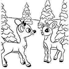 Small Picture Awesome Red Nose of Rudolph the Reindeer Coloring Page Color Luna