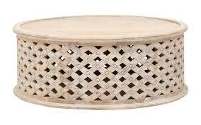 bagru coffee tablein burnt white rustic