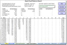 Free Debt Snowball Calculator 5 Debt Snowball Spreadsheet Templates Word Templates