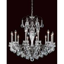 schonbek sonatina black pearl 12 light chandelier with clear heritage crystal