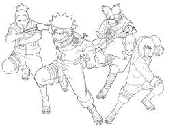Anime Naruto Coloring Pages Cartoon Coloring Pages Of