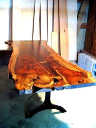 wood slab dining table beautiful: a live edge walnut slab table with black lacquered legs these tables use oregon orchard walnut for its beautiful wood characteristics the legs are h