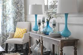 entry foyer table. Astounding Blue Accent Ceramic Table Lamps Everett Foyer Near Corner White Chair And Yellow Cushion Entry D