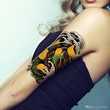 купить оптом маленький цветочный татуировки цветной рисунок водонепроницаемый