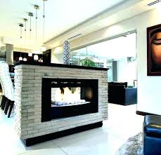 double sided fireplace indoor outdoor two gas custom see through wood in ind