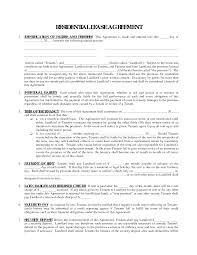Form Samples General Rent Lease Agreement Printable Residential Free