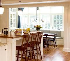 Dining Room:Colonial Breakfast Nook Feat Slat Back Chairs And Window Seat  Astonishing Breakfast Room