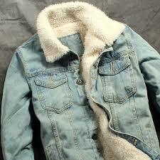 18 autumn winter new mens fur lining fleece jacket fashion slim fit motorcyle jean jacket denim coat brand new free now ping in stan