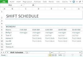 Employee Work Schedule Excel Make A Work Schedule Excel Employee How