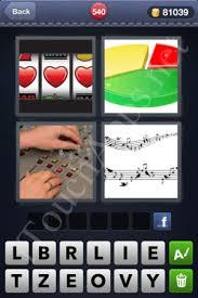 4 Pics 1 Word Pie Chart Music Sheet Slot Machine 4 Pics 1 Word Answers Level 540 Itouchapps Net 1