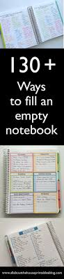 how to use an empty notebook fill blank pages planner monthly idea checklist weekly planner spread