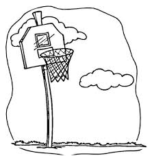 Basketbal Spelen Kleurplaat Gratis Kleurplaten Printen