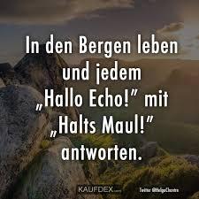 In Den Bergen Leben Und Jedem Hallo Echo Mit Kaufdex