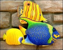 tropical fish outdoor metal wall art