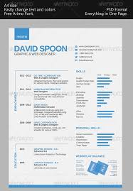 Free One Page Resume Template Enchanting One Page Modern Resume Engneeuforicco