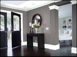 gray walls black trim dark floor grey walls black door and white bedroom love the grey