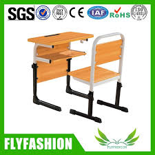 adjule wooden school student study desk and chair set sf 51s