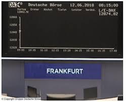 Bourse Frankfurt Frankfurt Stock Exchange Stock Market